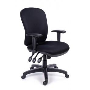 """Irodai szék, állítható karfával, fekete gyöngyszövet-borítás, fekete lábkereszt, MAYAH """"Super Comfort"""""""
