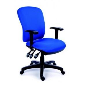 """Irodai szék, állítható karfával, kék gyöngyszövet-borítás, fekete lábkereszt, MAYAH """"Comfort"""""""