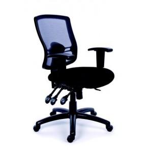 """Irodai szék, állítható karfás, fekete szövetborítás, hálós háttámla, fekete lábkereszt, MAYAH """"Creative"""""""