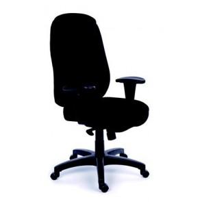 """Főnöki szék, szinkronmechanikával, fekete gyöngyszövet-borítás, fekete lábkereszt, MAYAH """"Chief"""""""