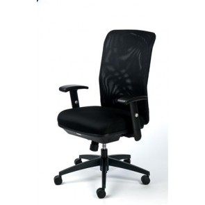 """Irodai szék, karfás, fekete szövetborítás, feszített hálós háttámla,fekete lábkereszt, MAYAH """"Jumpy"""""""