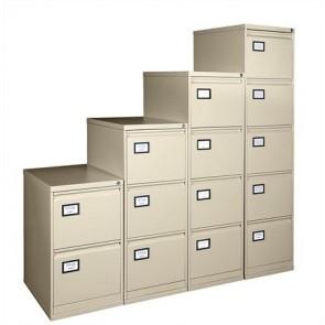 Függőmappatároló fémszekrény, 4 fiókos, VICTORIA, bézs