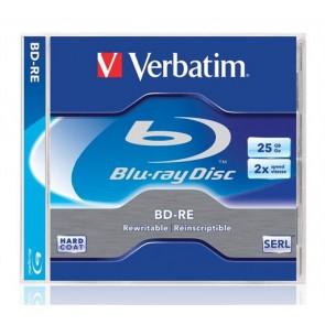 BD-RE BluRay lemez, újraírható, 25GB, 1-2x, 1 db, normál tok, VERBATIM