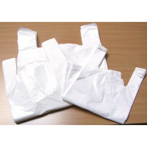 Ingvállas tasak, fehér, 32x8x55 cm