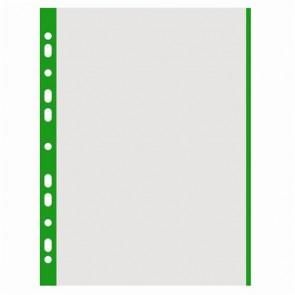 Genotherm, lefűzhető, színes szélű, A4, 40 mikron, narancsos felület, DONAU, zöld