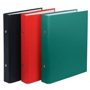 Gyűrűs könyv, 2 gyűrű, 30 mm, A5, PP/karton, DONAU, zöld