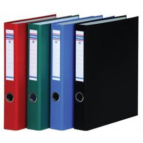 Gyűrűs könyv, 4 gyűrű, D alakú, 45 mm, A4, PP/karton, DONAU, kék