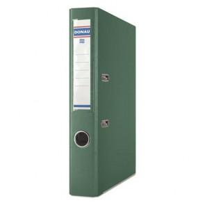"""Iratrendező, 50 mm, A4, PP, élvédő sínnel, DONAU """"Premium"""", zöld"""