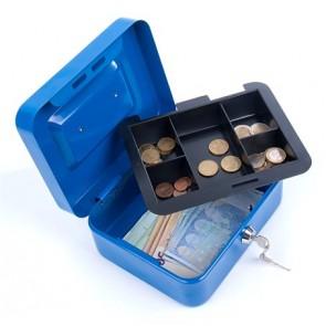Pénzkazetta, 15,2x11,5x8 cm, DONAU, kék