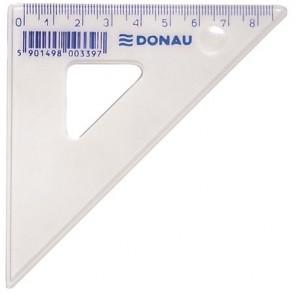 Háromszög vonalzó, műanyag, 45°, 8,5 cm, DONAU