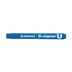 "Alkoholos marker, 2-4 mm, kúpos, DONAU ""D-signer U"", kék"