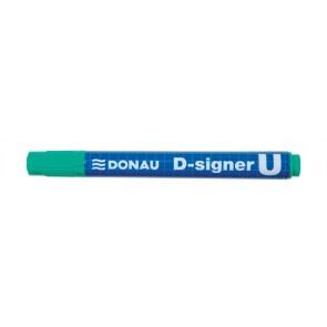 "Alkoholos marker, 2-4 mm, kúpos, DONAU ""D-signer U"", zöld"