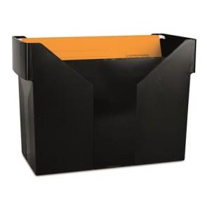 Függőmappa tároló, műanyag, 5 db függőmappával, DONAU, fekete