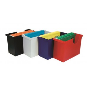 Függőmappa tároló, műanyag, 5 db függőmappával, DONAU, szürke