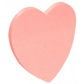 Öntapadó jegyzettömb, szív alakú, 50 lap, DONAU, rózsaszín