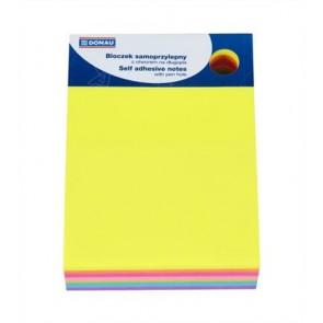 Öntapadó jegyzettömb, 101x76 mm, 7x40 lap, DONAU, vegyes szín