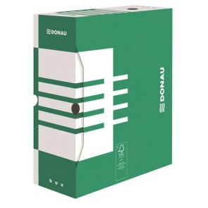 Archiváló doboz, A4, 120 mm, karton, DONAU, zöld