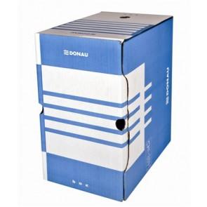 Archiváló doboz, A4, 200 mm, karton, DONAU, kék