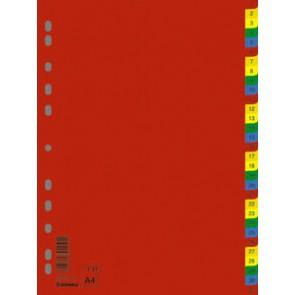 Regiszter, műanyag, A4, 1-31, DONAU, színes
