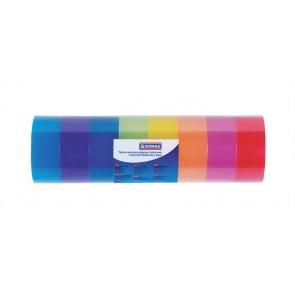 Ragasztószalag, 18 mm x 18 m, DONAU, vegyes színek