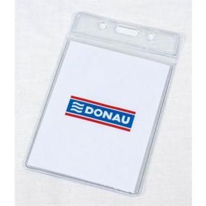 Azonosítókártya tartó, 60x105 mm, hajlékony, függőleges, DONAU