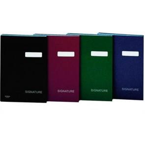 Aláírókönyv, A4, 19 elválasztó lappal, karton, DONAU, zöld