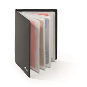 Bankkártyatartó, 8 db-os, RFID védelemmel, DURABLE, fekete