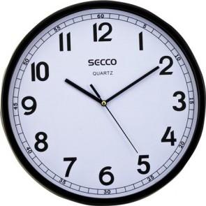 "Falióra, 30 cm,  fekete keretes, SECCO ""Sweep second"""