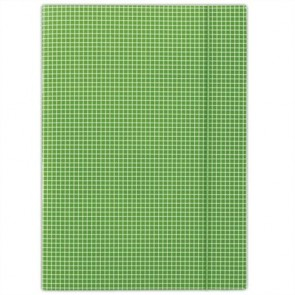 Gumis mappa, karton, A4, kockás, DONAU, zöld