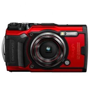 """Fényképezőgép, 4K, Wi-fi, vízálló, OLYMPUS """"TG-6"""", piros"""