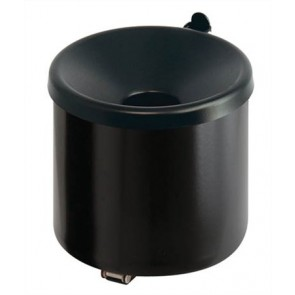 Fali hamutartó, acél, henger alakú, VEPA BINS, fekete