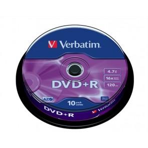DVD+R lemez, AZO, 4,7GB, 16x, hengeren, VERBATIM