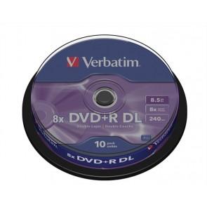 "DVD+R lemez, kétrétegű, 8,5GB, 8x, hengeren, VERBATIM ""Double Layer"""