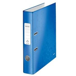 """Iratrendező, 52 mm, A4, PP/karton, lakkfényű, LEITZ """"180 Wow"""", kék"""