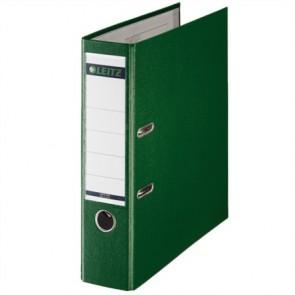 """Iratrendező, 80 mm, A4, PP/karton, élvédő sínnel, LEITZ """"180"""", zöld"""