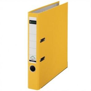 """Iratrendező, 52 mm, A4, PP/karton, élvédő sínnel, LEITZ """"180"""", sárga"""