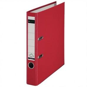 """Iratrendező, 52 mm, A4, PP/karton, élvédő sínnel, LEITZ """"180"""", piros"""