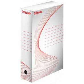 """Archiváló doboz, A4, 80 mm, karton, ESSELTE """"Boxy"""", fehér"""