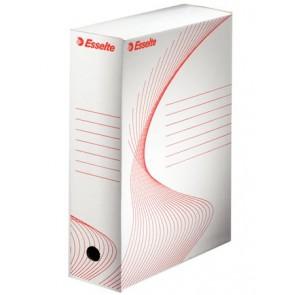 """Archiváló doboz, A4, 100 mm, karton, ESSELTE """"Boxy"""", fehér"""