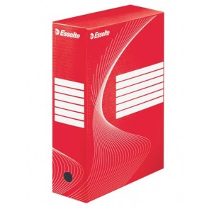 "Archiváló doboz, A4, 100 mm, karton, ESSELTE ""Standard"", piros"