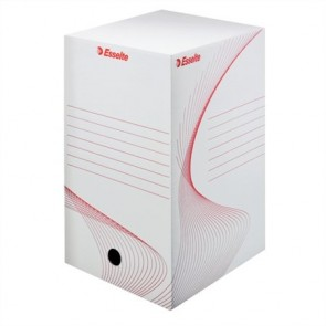 """Archiváló doboz, A4, 200 mm, karton, ESSELTE """"Boxy"""", fehér"""
