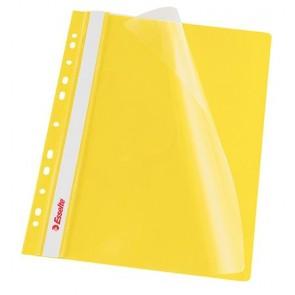 Gyorsfűző, lefűzhető, PP, A4, ESSELTE, sárga