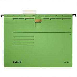 """Függőmappa, gyorsfűzős, karton, A4, LEITZ """"Alpha"""", zöld"""
