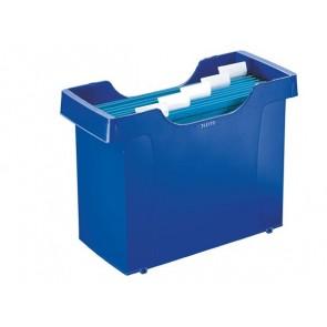 """Függőmappa tároló, műanyag, 5 db függőmappával, LEITZ """"Plus"""", kék"""