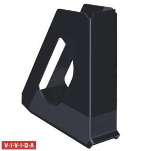 "Iratpapucs, műanyag, 68 mm, ESSELTE ""Europost"", Vivida fekete"