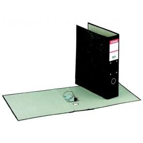 Iratrendező, 70 mm, A4, karton, függőmappákhoz, márványos, ESSELTE, fekete