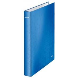 """Gyűrűs könyv, 2 gyűrű, D alakú, 40 mm, A4 Maxi, karton, lakkfényű, LEITZ """"Wow"""", kék"""