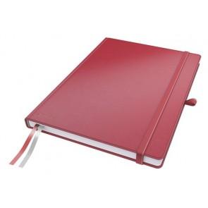 """Jegyzetfüzet, exkluzív, A4, kockás, 80 lap, keményfedeles, LEITZ """"Complete"""", piros"""