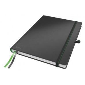 """Jegyzetfüzet, exkluzív, A4, kockás, 80 lap, keményfedeles, LEITZ """"Complete"""", fekete"""