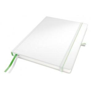"""Jegyzetfüzet, exkluzív, A4, vonalas, 80 lap, keményfedeles, LEITZ """"Complete"""", fehér"""